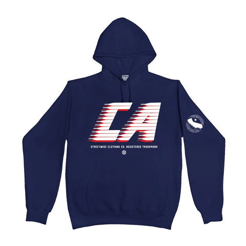 Cali Stripes Hoody (Navy)