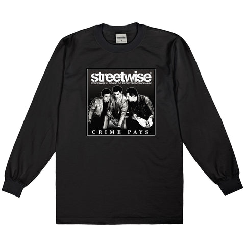 Crime Pays Long Sleeve (Black)