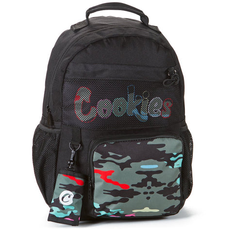Escobar Smell Proof Canvas Backpack (Black/Camo)