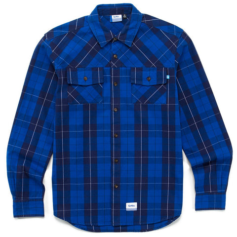 Fresh daily L/S Button Down Shirt ( Royal Blue)