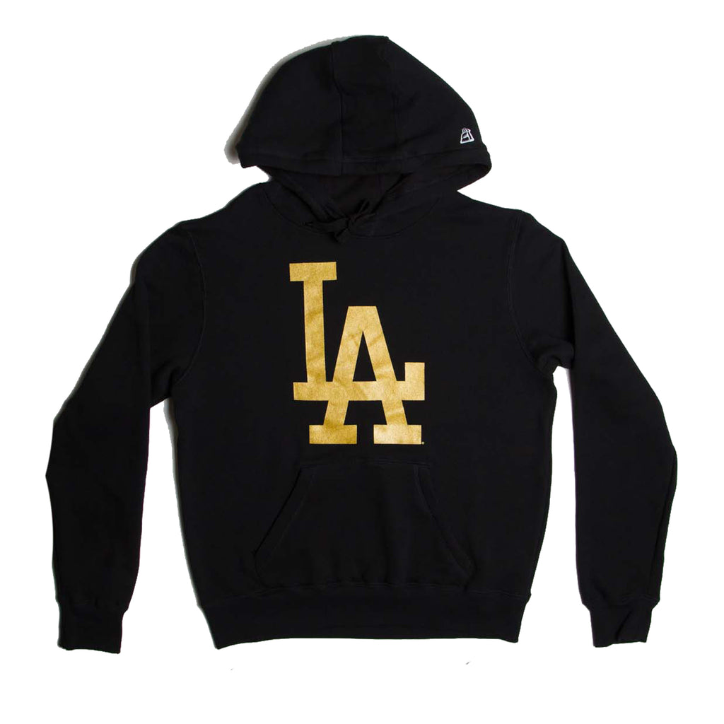 Los Angeles Dodgers Gold Collection Pullover Hoodie (Black)