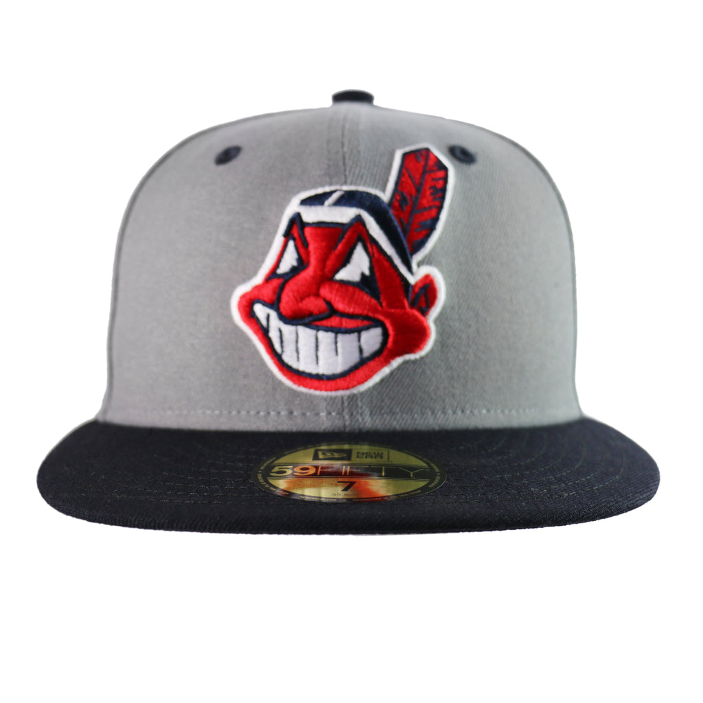 san francisco 02b6f e257d New Era Cleveland Indians 59FIFTY Two Tone Heather Fitted Hat (Gray Na –  West Wear