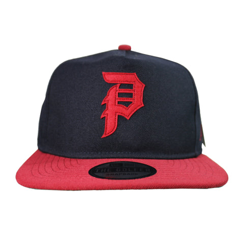 DIRTY P MINOR LEAGUE SNAPBACK (MIDNIGHT/RED)