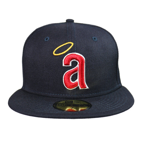 New Era 59Fifty Hat California Angels Cooperstown 1971 Wool Navy Blue Fitted Cap
