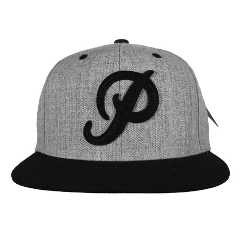 CLASSIC P FELT SNAPBACK (HEATHER/BLACK)