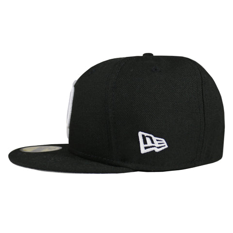 Los Angeles Dodgers New Era (Black) Script D Logo League Basic 59FIFTY Fitted