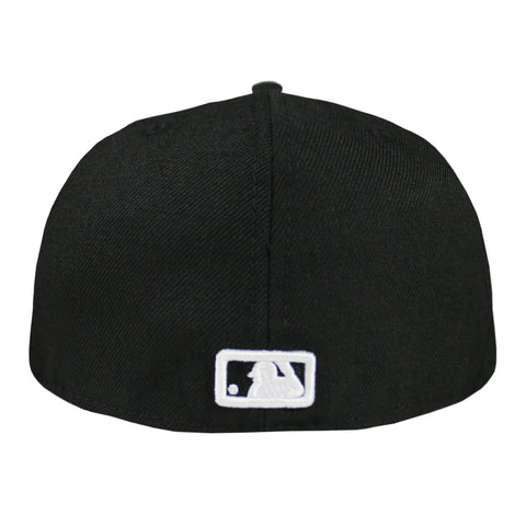Los Angeles Dodgers MLB Black and White Fashion 59FIFTY Fitted (Black)