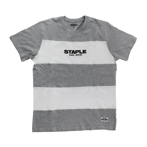 Block Stripe Logo (White/Gray)