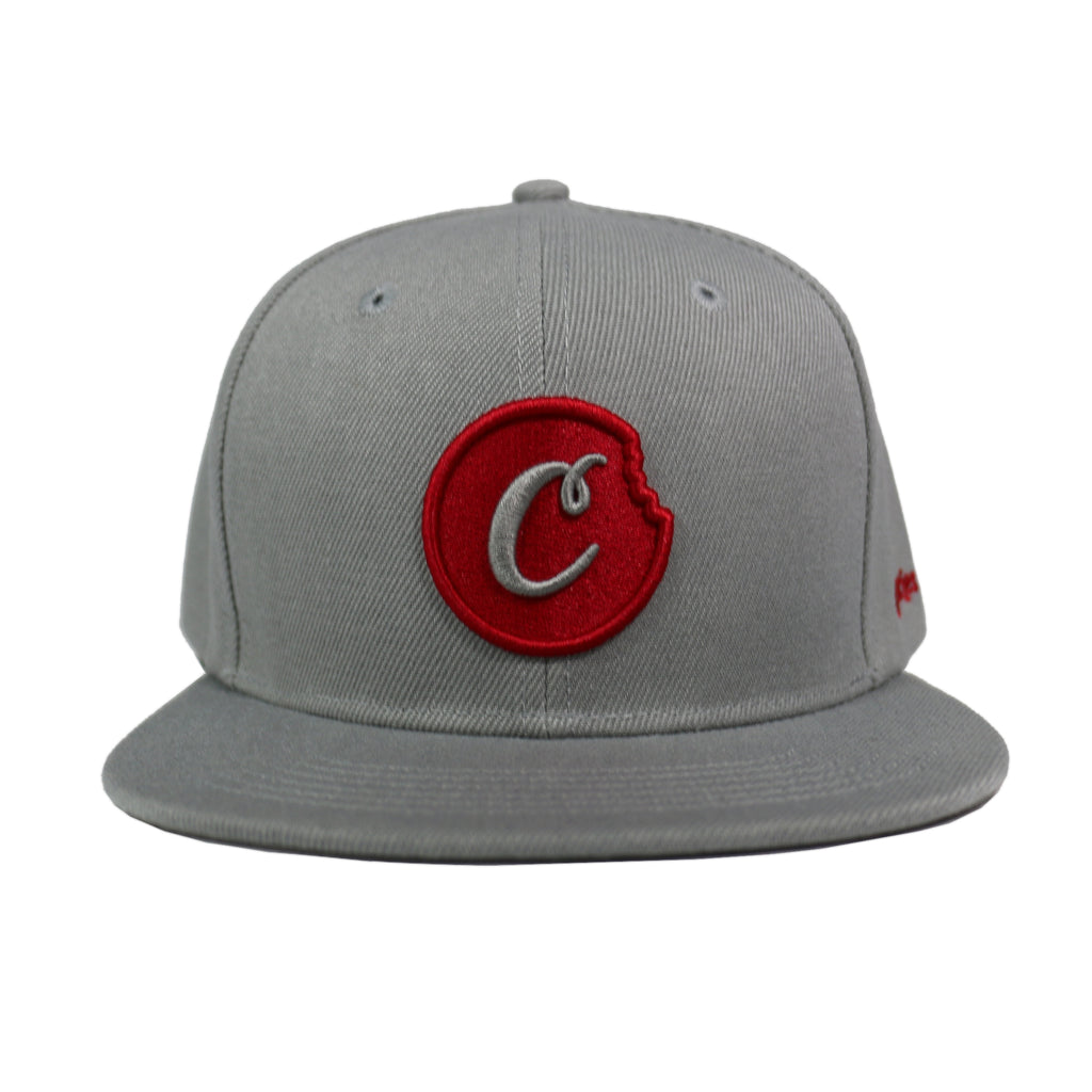 C-BITE TWILL SNAPBACK (Grey/Red)