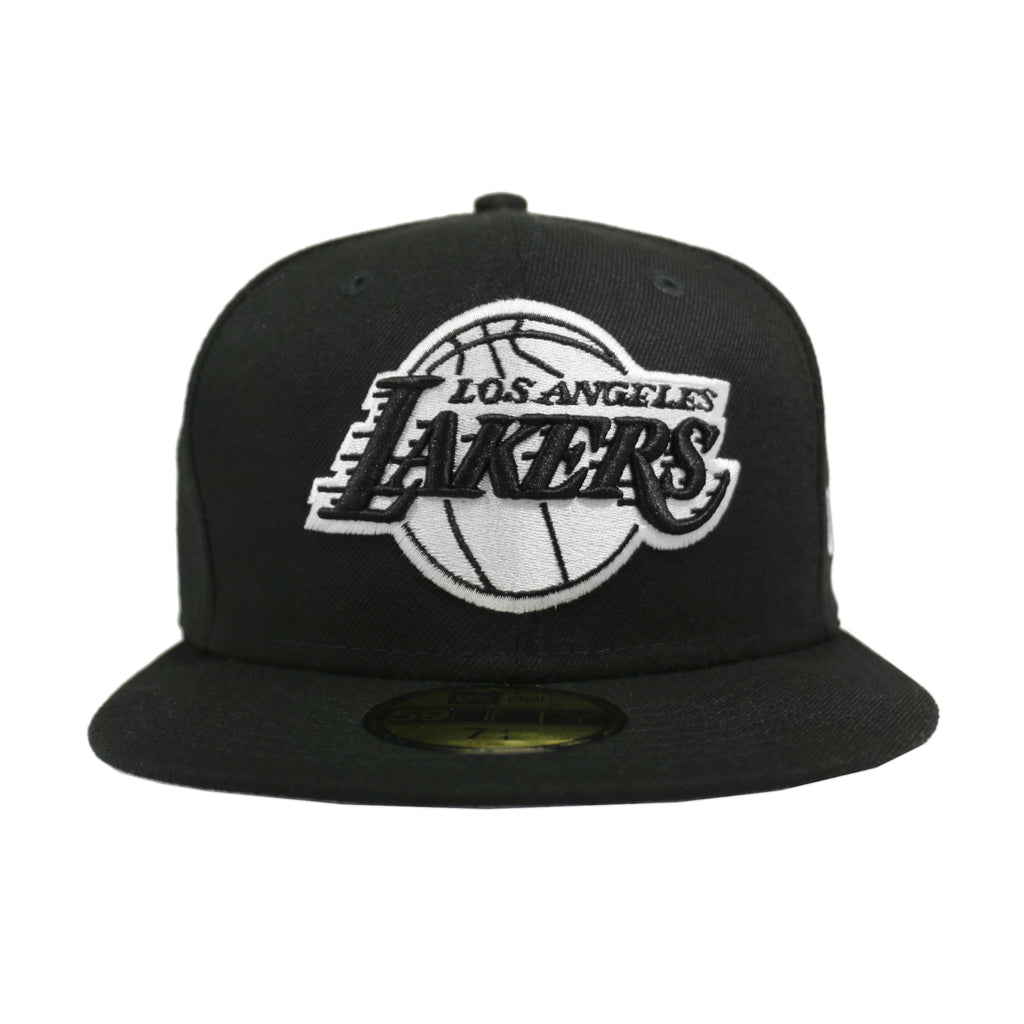 LOS ANGELES LAKERS BLACK & WHITE 59FIFTY FITTED (Black)