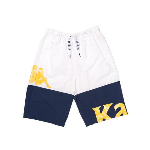 AUTHENTIC SAND CAMEO SWIM SHORTS (WHITE/BLUE)