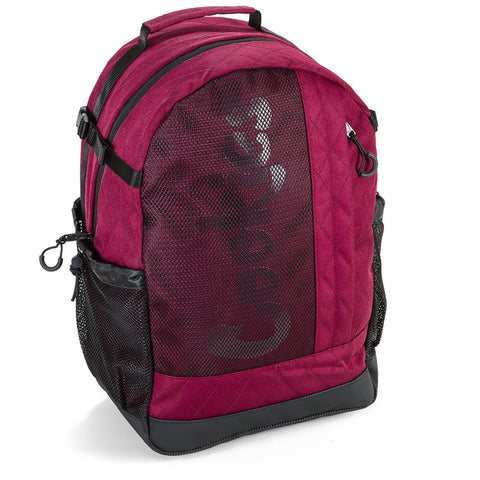 COOKIES SMELL PROOF MESH OVERLAY NYLON BACKPACK (BURGUNDY)