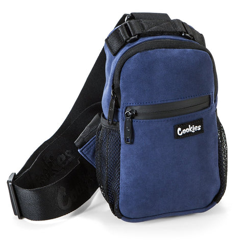 """Noah"" Suede Over The Shoulder Bag (Navy)"