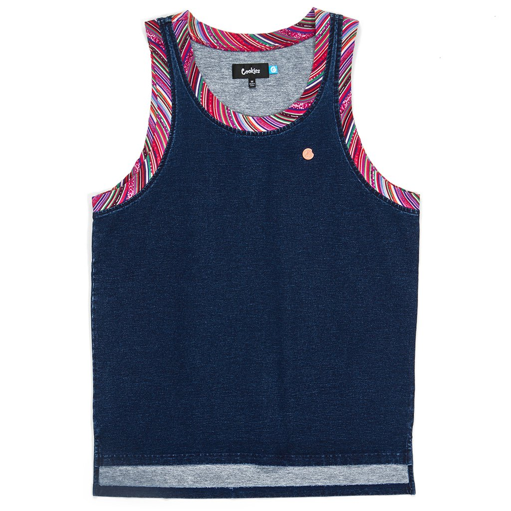 Peruvian Indigo Washed Tank Top