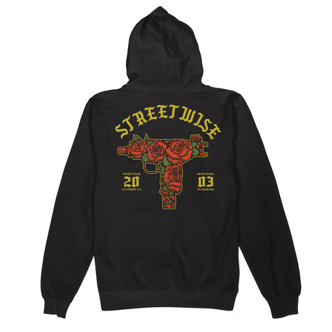 Red  Roses Hoody (Black)