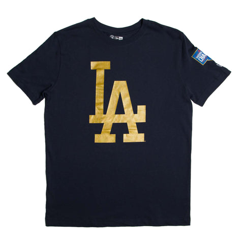Los Angeles Dodgers Gold Collection S/S Crew Tee (Navy)