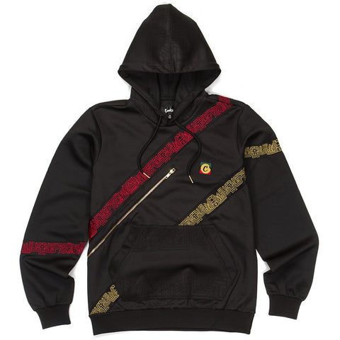 SOL POLY TRICOT ZIPPER STASH HOODY