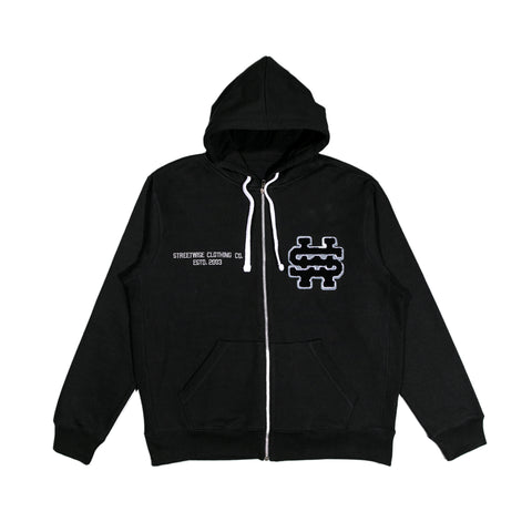STWS Fleece Zip Up Hoodie (Black)