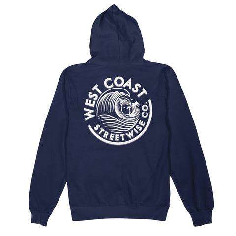 Wave Coast Hoody (Navy)