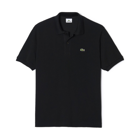 Men's Classic Piqué Polo (Black)
