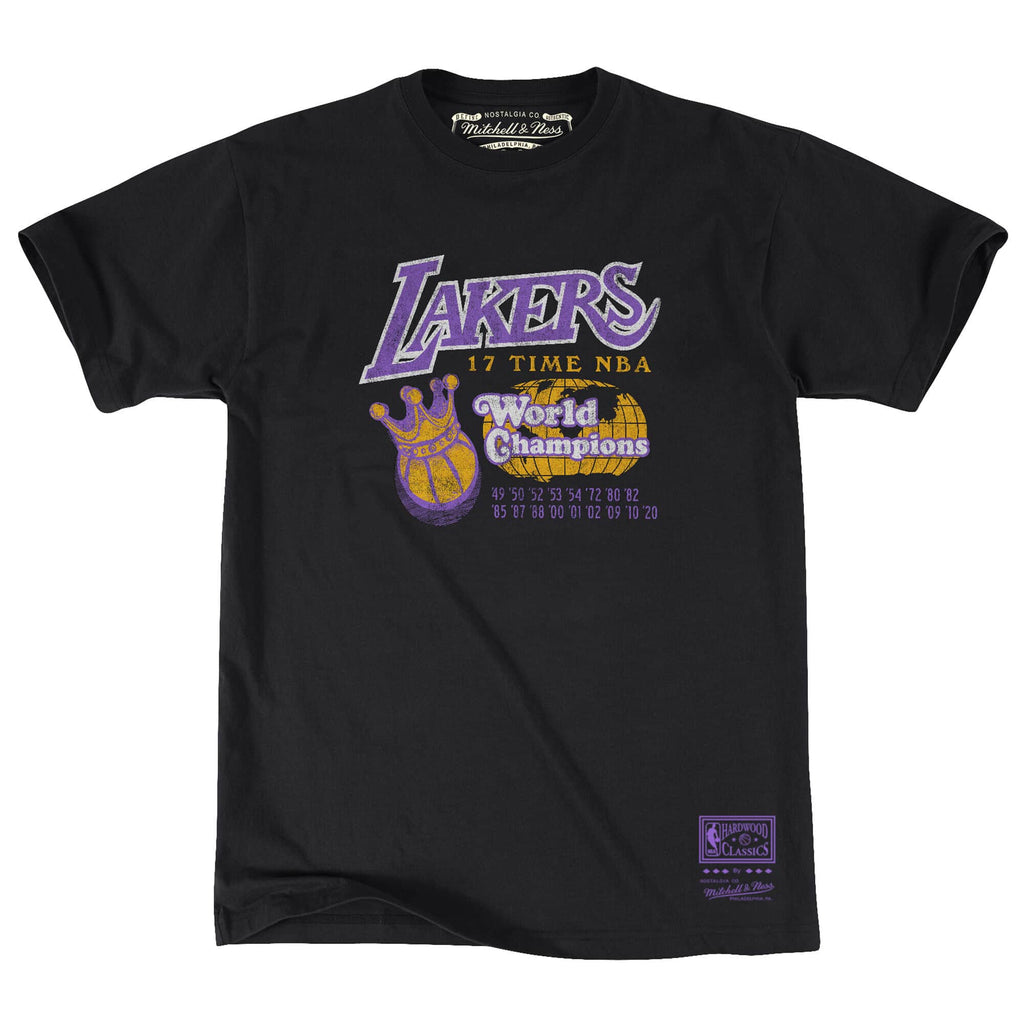 Los Angeles Lakers NBA 17x World Champs Tee