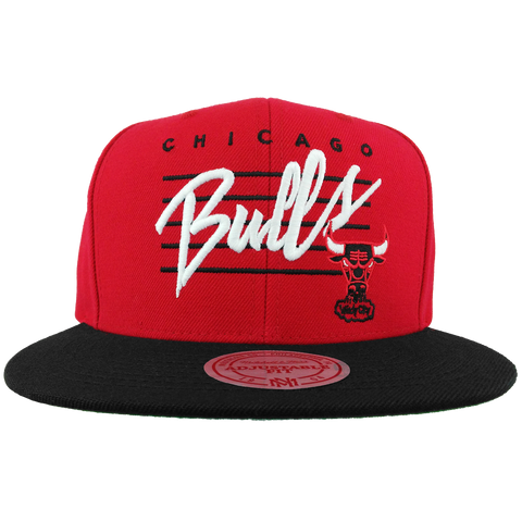 Chicago Bulls Cursive Script With Logo Snapback