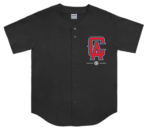 Cali Angels Baseball Jersey (Black)