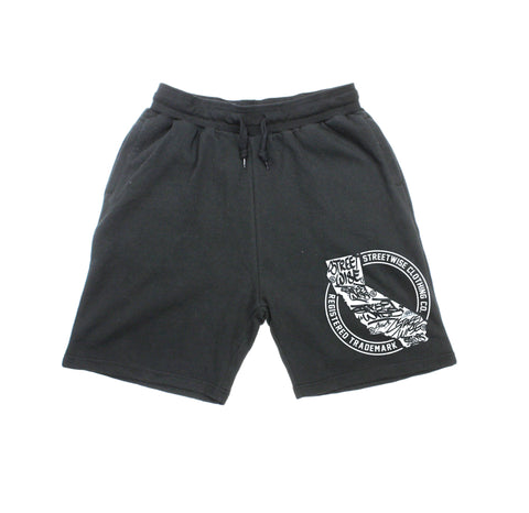 Cali Tags Sweat Shorts (Black)