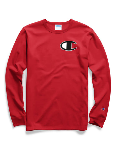 58a4b347053 Champion Men s Red Life® Long-sleeve Tee