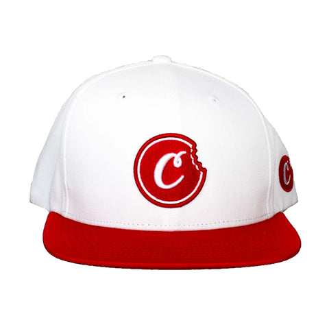 Fresh Daily Twill Snapback (White/Red)