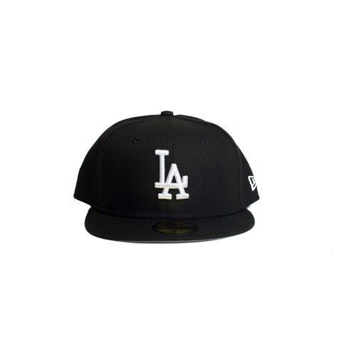LOS ANGELES DODGERS BLACK ON WHITE 59FIFTY FITTED (Black)