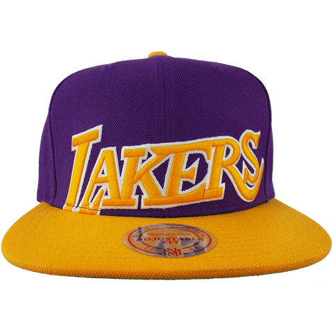 Los Angeles Lakers Cropped XL Logo 2 Tone Snapback
