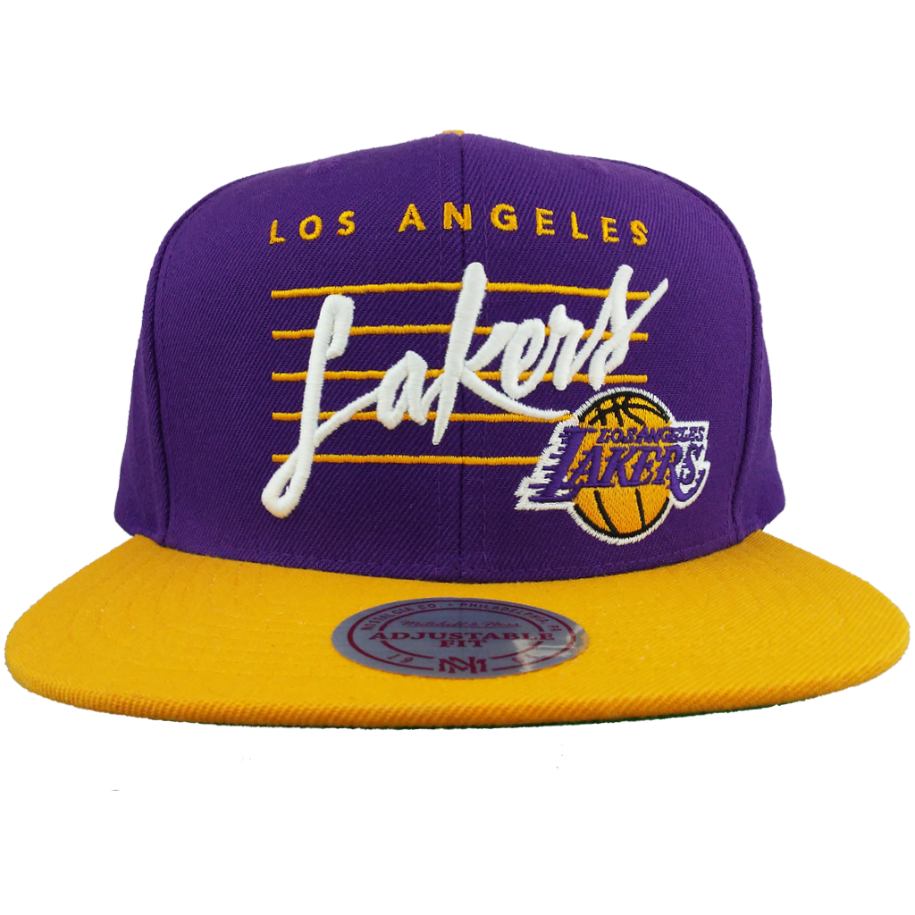 Los Angeles Lakers Cursive Script With Logo Snapback – West Wear 89fcbc34f46