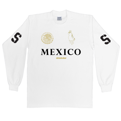 Narco Polo Long Sleeve (White)