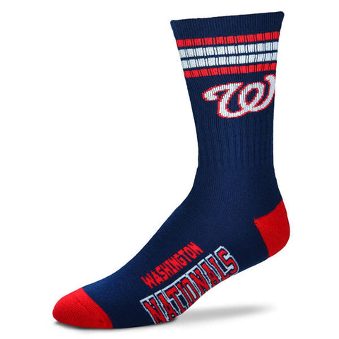 Washington Nationals 4-Stripe Deuce Team Crew Socks