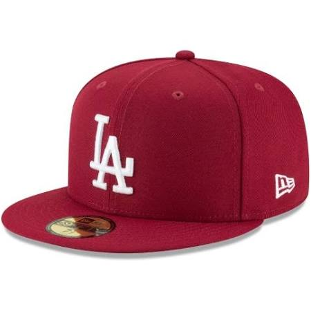 LOS ANGELES DODGERS CARDINAL BASIC 59FIFTY FITTED