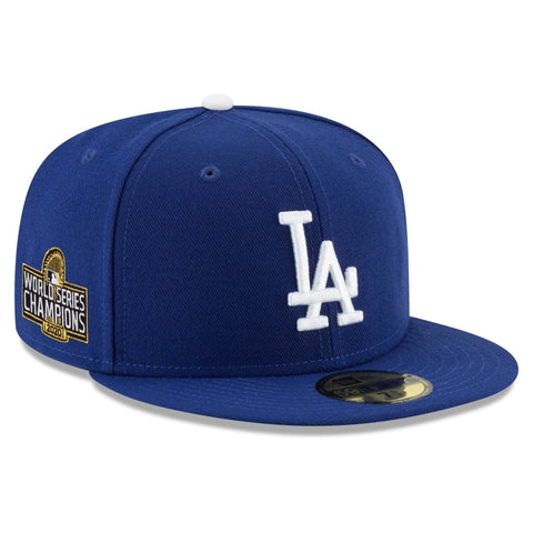 Los Angeles Dodgers 2020 World Series Champions Side Patch 59Fifty Fitted