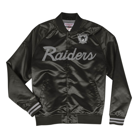 Raiders Special Script Lightweight Satin Jacket