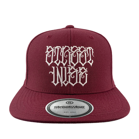 Street Royalty Snapback (Burgundy)
