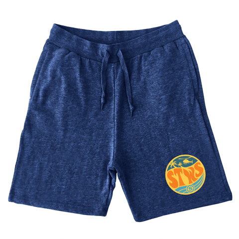 West Wave Sweat Shorts (Navy)