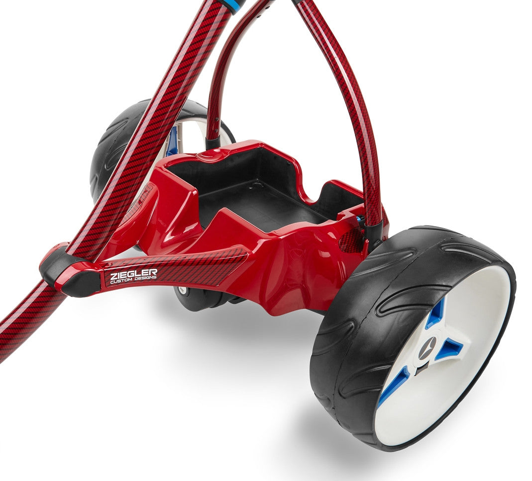 Motocaddy Ziegler S3 PRO Red Carbon Fibre (Painted Tray)