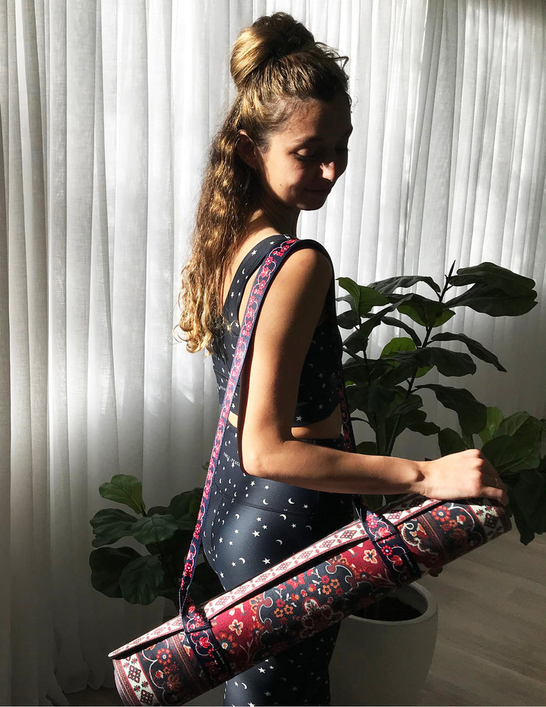 Yoga Strap Mantra Red