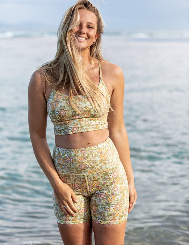 Desert Bloom Yoga Shorts
