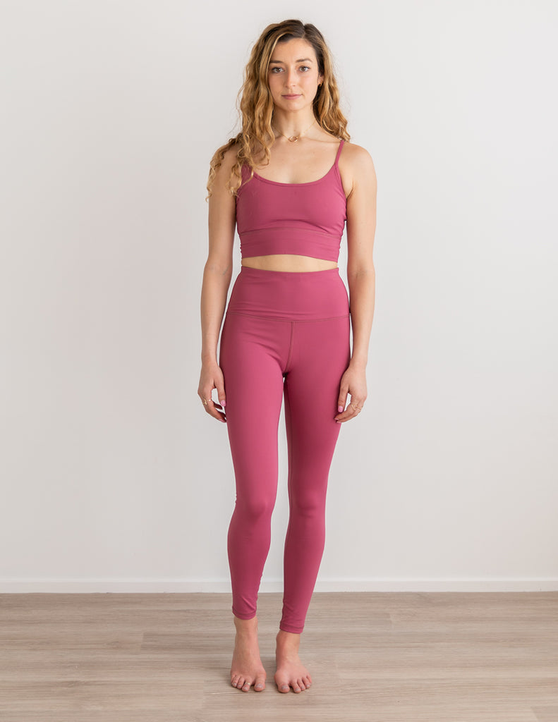 Antique Rose Glow High Waist Yoga Leggings