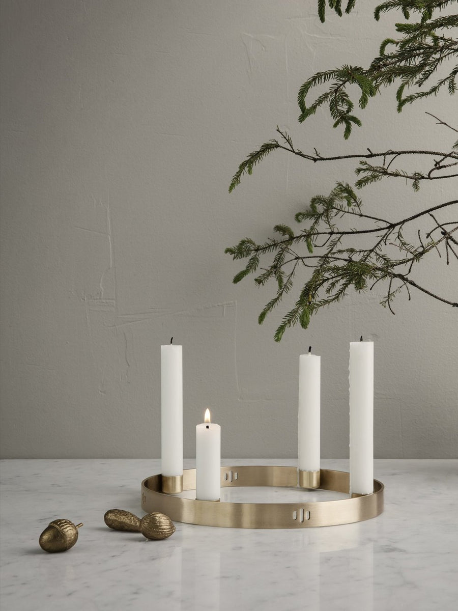Brass Circle Candle Holder