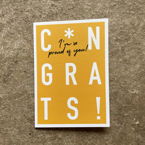 Congrats* I'm so proud of you! Card