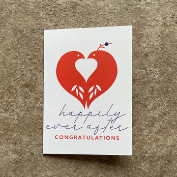 Happily Ever After (Bird detail) Card