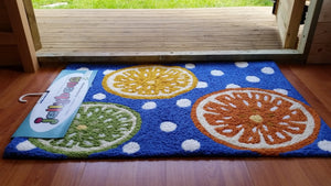Jellybean CITRUS AND POLKER DOTS Mat