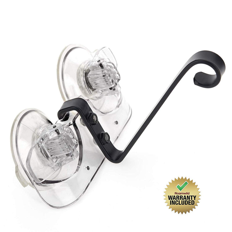Roamwild Window Mounted Bird Feeder Bracket with Super Strong New Dual Suction Technology