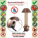 Antique Copper Roamwild PestOff Feeder | Squirrel Proof Bird Feeder